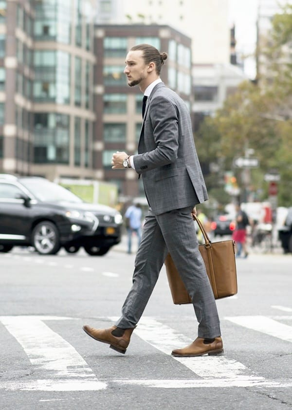 Best Grey Suit Brown Shoes Styles For Men