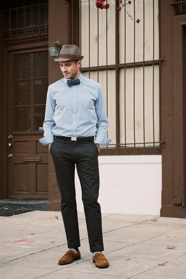 Cool Black Pants Brown Shoes Outfits For Men